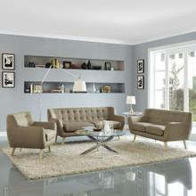 Remark 3 Piece Living Room Set in Brown