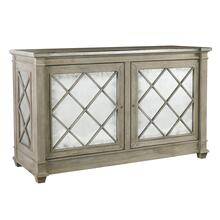 Addison 2 Door Server - Zinc Trim Top
