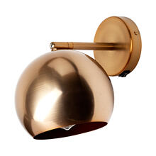 Silverman II 6x9.5 Metallic Gold Toned Round Wall Sconce