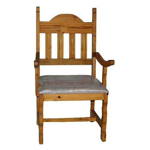 Plain Padded Seat Arm Chair