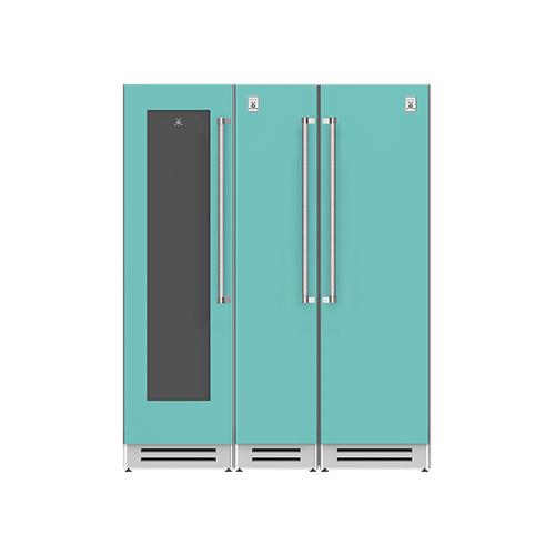 "Hestan - 66"" Wine Cellar (L), Column Freezer and Refrigerator ® Ensemble Refrigeration Suite - Bora-bora"