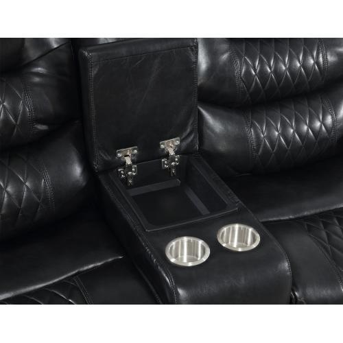 "Park Avenue Pwr-Pwr-Pwr Sofa Black 90.5""x40""x43"""