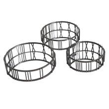 S/3 Metal Mirrors W/ Roman Numerals