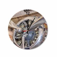 See Details - Airplane Motor Round Square Acrylic Wall Clock