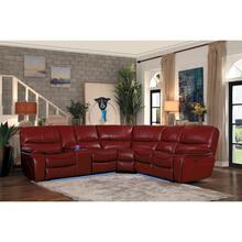 See Details - 3-Piece Modular Power Reclining Sectional with Left Console and LED
