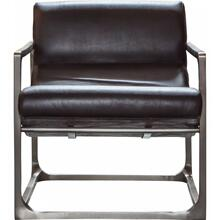 GA Boda Lounger Black Leather