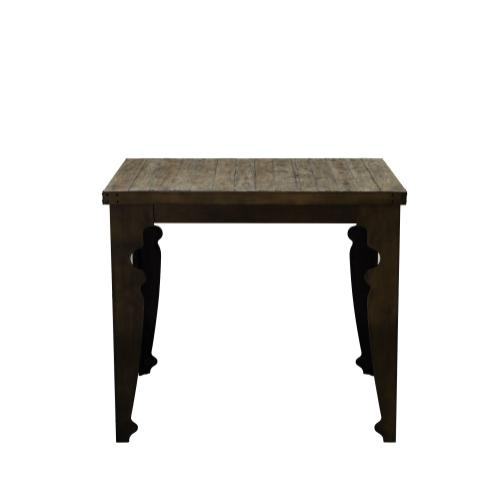Emerald Home Valencia Square Gathering Table-natural Reclaimed Pine Finish With Black Metal Legs D559-13
