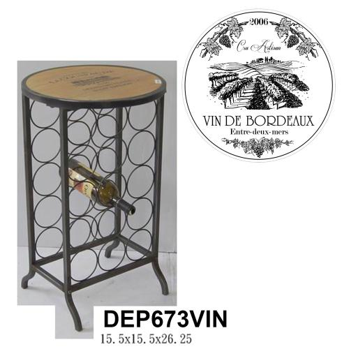 Crestview Collections - Wood and Metal Wine Rack
