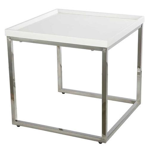 A & B Home - Nesting Table Chrome/Mdf