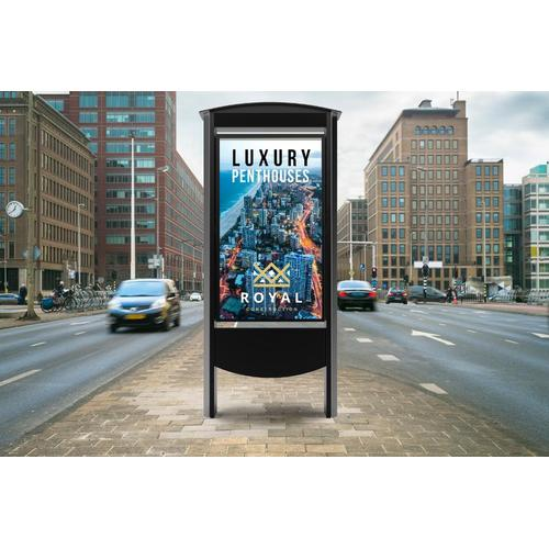 "Outdoor Smart City Kiosks with 49"" or 55"" Xtreme TM High Bright Outdoor Display - 49 / Black"