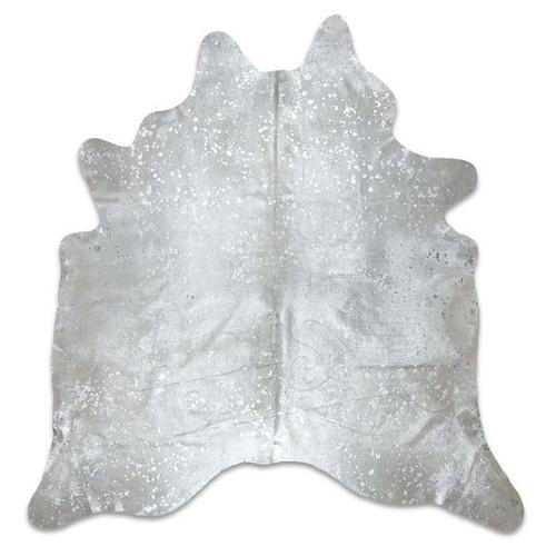 Silver Acid Wash Cowhide