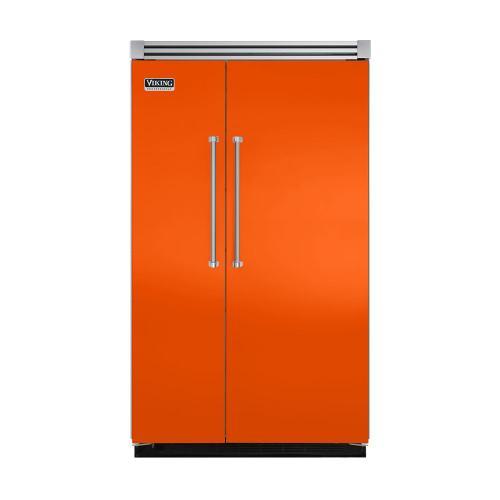 "Viking - Pumpkin 48"" Quiet Cool™ Side-by-Side Refrigerator/Freezer - VISB Tru-Flush™ (48"" wide)"