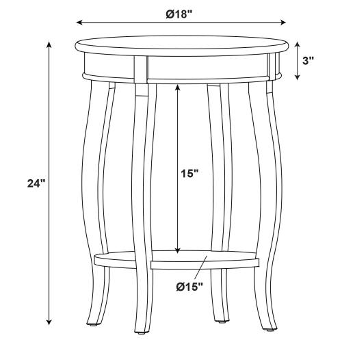 Round Lower Shelf Table, Red