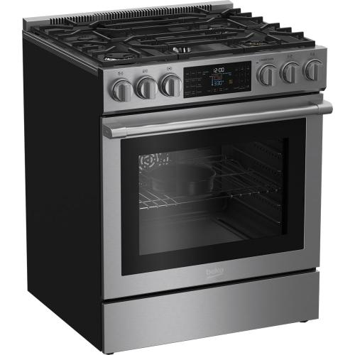 "30"" Slide-In Dual Fuel Range"