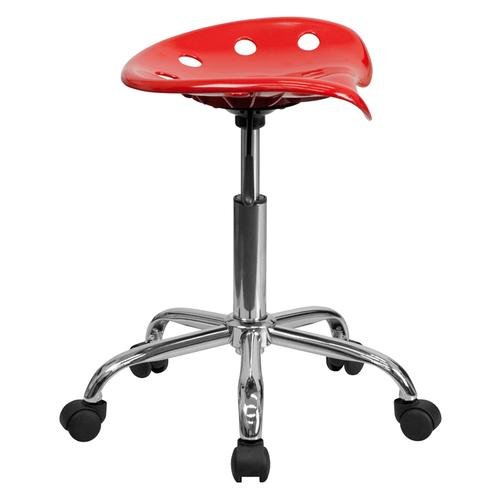 Flash Furniture - Vibrant Red Tractor Seat and Chrome Stool