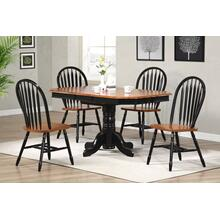 DLU-TCP3660-820-BCH5PC  5 Piece Pedestal Extendable Dining Set  Arrowback Chairs