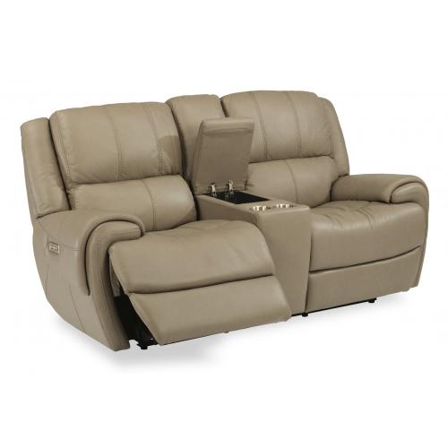 Nance Power Reclining Loveseat with Console & Power Headrests
