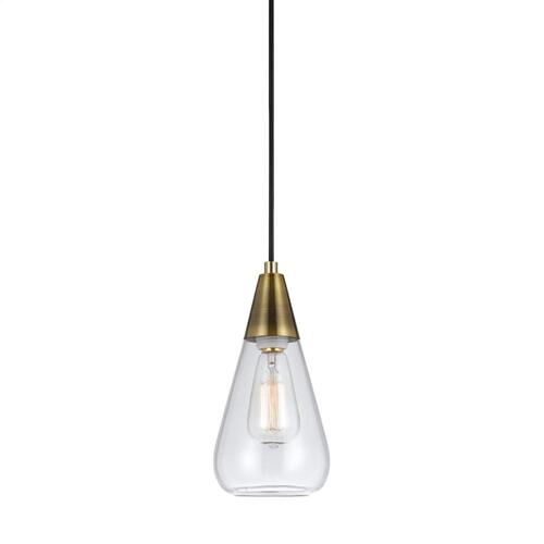 Cal Lighting & Accessories - 60W Ellyn Glass Pendant (Edison Bulbs Not included)