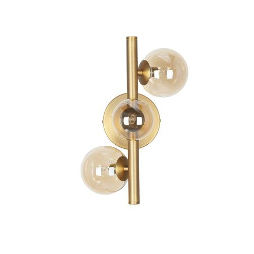3lt Halogen Wall Sconce Vb W/ Champagne Glass