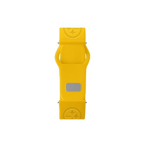 Pittsburgh Steelers Debossed Silicone Watch Band (20mm) Gold
