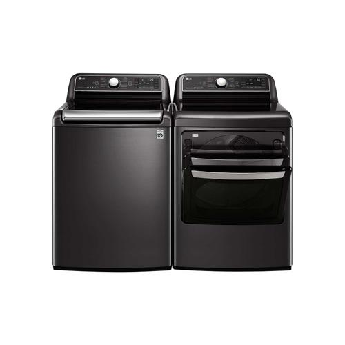 LG - 5.5 cu.ft. Smart wi-fi Enabled Top Load Washer with TurboWash3D™ Technology
