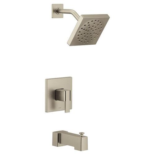 90 Degree brushed nickel m-core 3-series tub/shower
