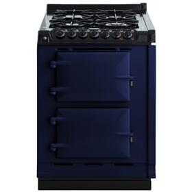 "AGA Module 24"" Electric/Natural Gas Dark Blue with Stainless Steel trim"