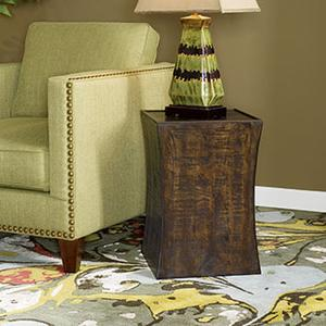 Concave Square Chairside Table
