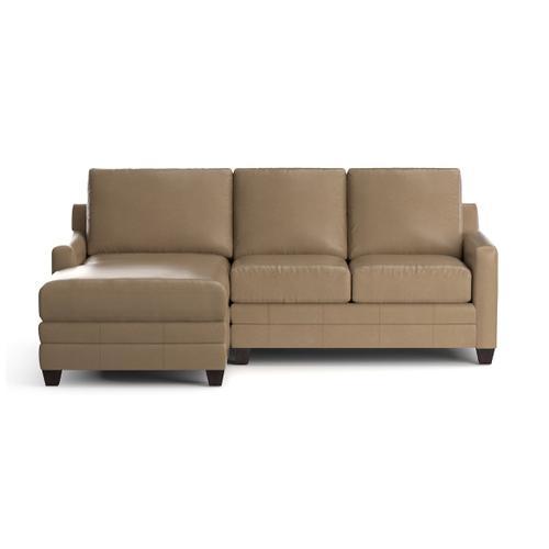 Bassett Furniture - Carolina Leather Thin Track Arm L Chaise Sect