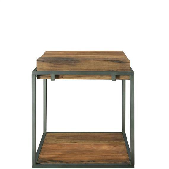 Riverside - Maverick - Square Side Table - Rustic Saal Finish