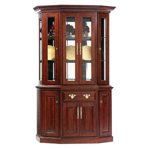 """See Details - 51"""" Queen Victoria Canted Hutch & Buffet"""