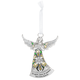 Angel Ornament - In spirit, heart & memory love lives forever