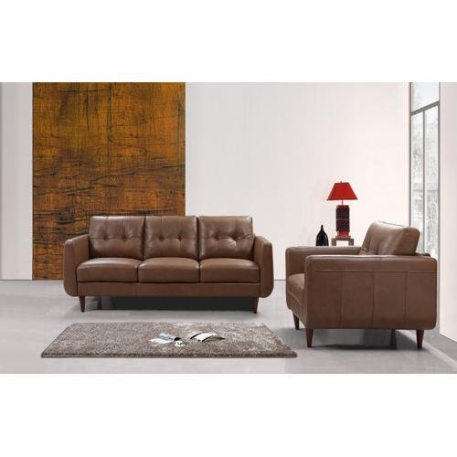 Divani Casa Lyman - Modern Brown Sofa Set