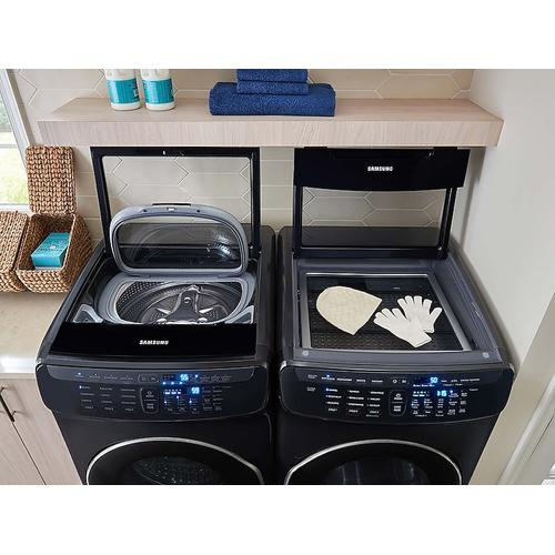 Product Image - 7.5 cu. ft. Smart Electric Dryer with FlexDry™ in Black Stainless Steel