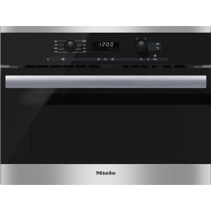 MieleM 6260 TC - Built-in microwave oven with controls along the top for optimal combination possibilities.