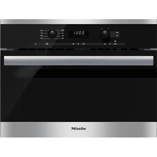 M 6260 TC - Built-in microwave oven with controls along the top for optimal combination possibilities.