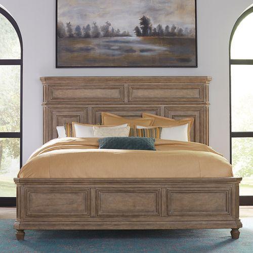 Liberty Furniture Industries - King California Panel Bed, Dresser & Mirror