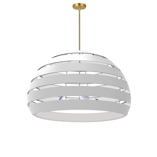 4lt Chandelier Agb, Wh Shade