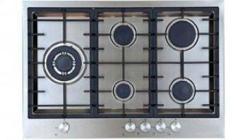 "30"" (76cm) 5 burner gas cooktop"