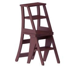 Product Image - Original SUNHEAT Made in USA Benjamin Franklin Step Ladder Chair - Mahogany