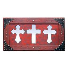 See Details - 3 Red Mirror Crosses