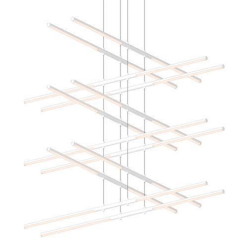 Sonneman - A Way of Light - Tik-Tak® LED Pendant [Size=Stack 6-Tier, Color/Finish=Satin White]