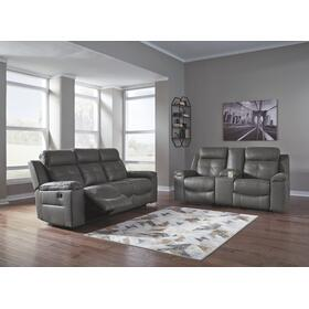 Jesolo Reclining Sofa and Loveseat Dark Gray