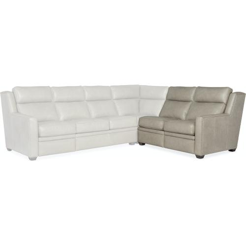 Bradington Young Revelin RAF Loveseat Recliner At Arm w/Articulating Headrest - Two Pc Back 203-56-2