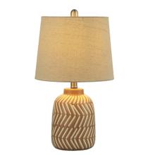 Terracotta Diagonal Stripe Table Lamp. 60W Max.