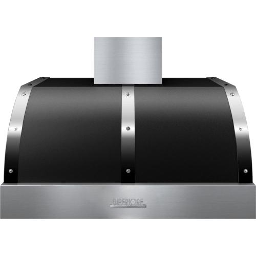 Hood DECO 36'' Black matte, Chrome 1 blower, electronic buttons control, baffle filters