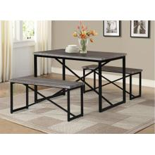 7850 NATURAL 3PC Metal Dining Room SET
