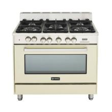 "Antique White (Bisque) 36"" Dual Fuel Convection Range with Single Oven"