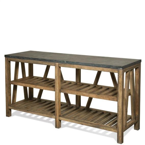 Riverside - Weatherford - Sofa Table Base - Bluestone Finish