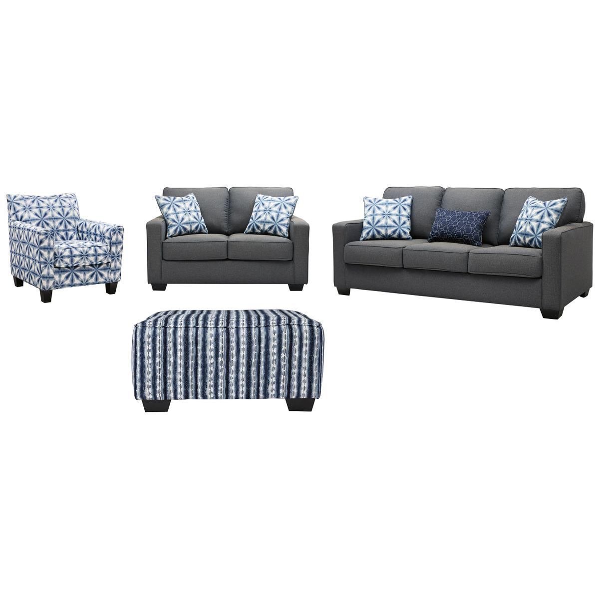 See Details - Sofa, Loveseat, Chair and Ottoman